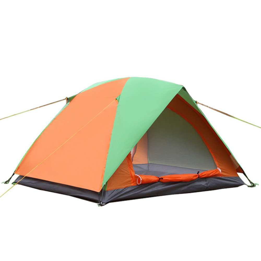 Hlxx Outdoor Camping Zelt Doppel Doppeltür Zelt Strand Feld Doppelzimmer Tourist Zelt,B