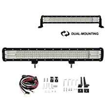 "Liteway 23"" 540W CREE LED Flood Spot Combo Beam Light Bar Driving Fog Light Waterproof for Off-road Vehicle, ATV, SUV, UTV, 4WD, Jeep, Boat, Updated Version, 1 Year Warranty"