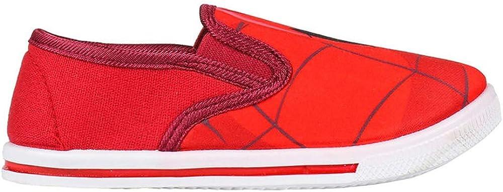 Rouges Chaussures de Toile Gar/çon Spiderman Marvel Avengers sans Lacets Tailles 22 /à 29