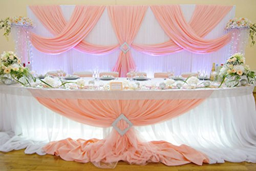 Diy 20's Flapper Costume (Backdrop wedding 50 ft White Sheer Wedding Backdrop draping Voile Panel 10 ft x 50ft.)