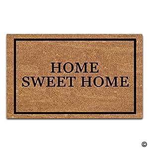 Artswow entrada Felpudo–Felpudo personalizado–alfombrilla antideslizante para puerta Home Sweet Home 18pulgadas por 30pulgadas Máquina lavable tela no tejida Top