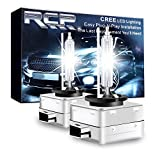 RCP - D1S6CA - D1S/ D1R 6000K Xenon HID Repcement Bulb Diamond White Metal Stents Base 12V Car Headlight Lamps Head Lights 35W