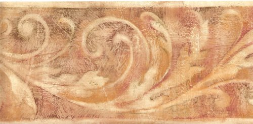 WT1053B Acanthus Scroll Tuscan Colors Wallpaper Border