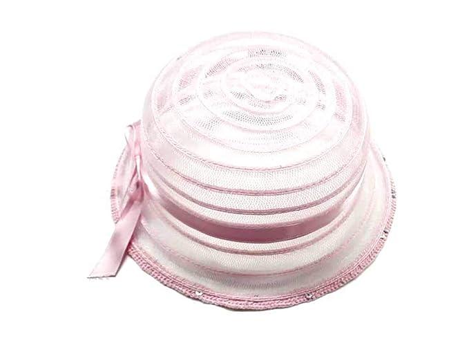 enorme inventario dettagliare elegante Cappello Rosa Paillettes Bambina Bimba Elegante Cerimonia Scegli ...