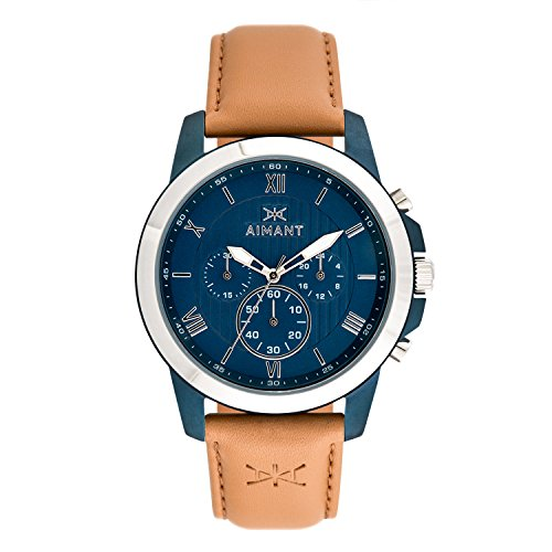 AIMANT-Mens-Kent-Blue-with-Nude-Leather-Band-Watch-GKE-100L5-2S