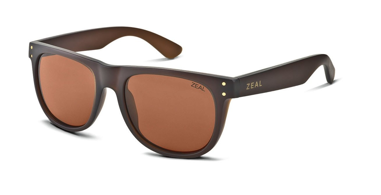 Zeal Optics Unisex Ace Bombay Brown W / Copper Polarized Lens Sunglasses by Zeal (Image #1)