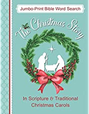 Jumbo-Print Bible Word Search: The Christmas Story in Scripture & Traditional Christmas Carols