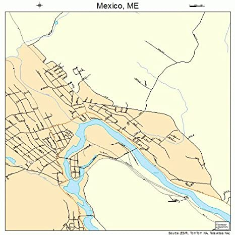Mexico Maine Map.Amazon Com Large Street Road Map Of Mexico Maine Me Printed