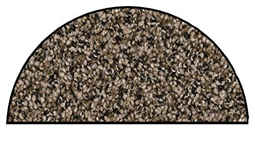 Koeckritz Oval 5 x8 Indoor Frieze Shag Area Rug – Black and Tan II 40 oz – Plush Textured Carpet with Premium Bound Polyester Edges.