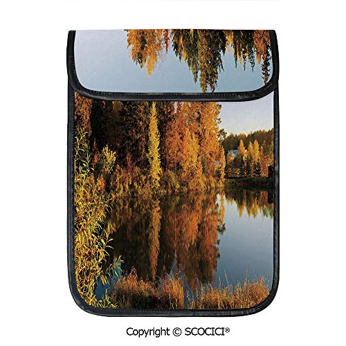 - SCOCICI Simple Protective Lake in Sunset Rays Autumn Landscape Pond Woodland Outdoors Ecology Environment Decorative Pouch Bag Sleeve Case Cover for 12.9 inches Tablets