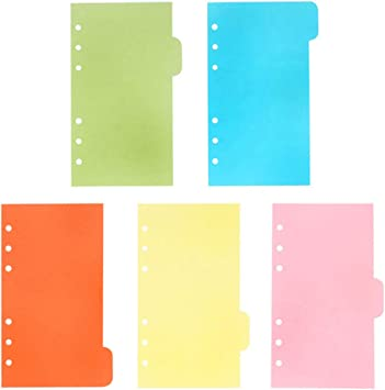 Amazon Com Toymytoy A6 Dividers 6 Holes Ring Colored Notebook