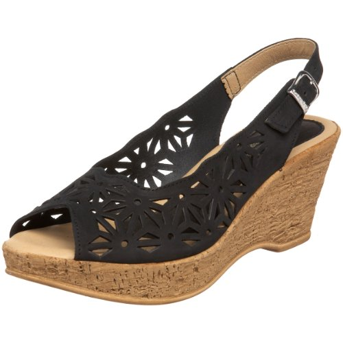 Spring Step Women's Abigail Wedge Sandal Black cheap buy buy cheap wholesale price visit sale online for sale cheap authentic discount manchester great sale jthL3fT