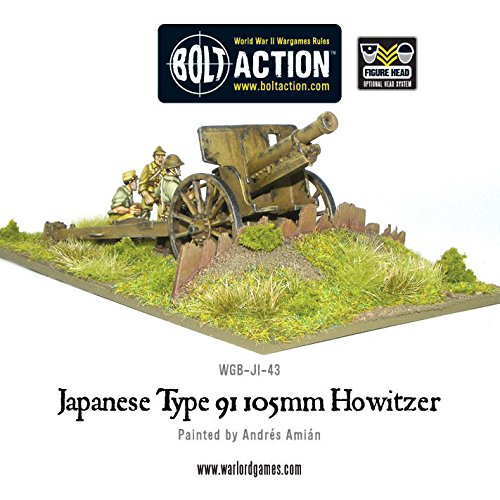 (Japanese Type 91, 105mm Howitzer, Bolt Action minifigures)