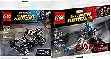 Lego Super Heroes Batman Batmobile (30446) + Captain America Motorcycle & Mini Figure (30447) DC Comics & Marvel