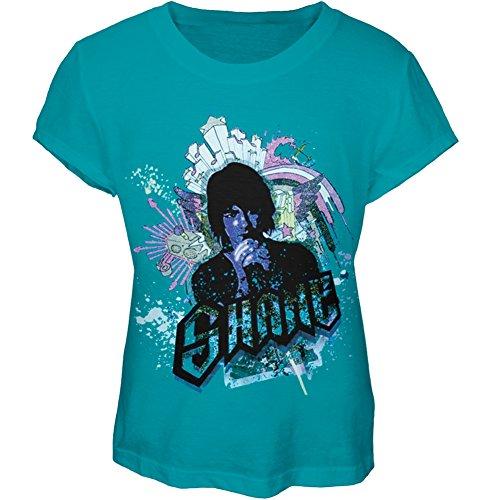 Camp Rock - Girls Shane Graffiti Girls Youth T-shirt Youth X-Large Light Blue -