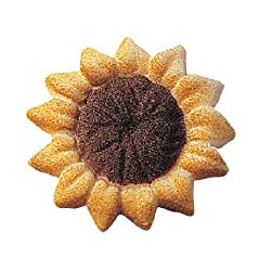 Lucks Dec-ons Decorations Molded Sugarcup-cake Topper, Sunflower, 1.5 Inch, 80 Count