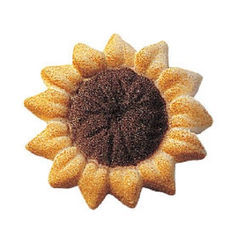 Lucks Dec-Ons Decorations Molded Sugar/Cup-Cake Topper, Sunflower, 1.5 Inch, 80 Count