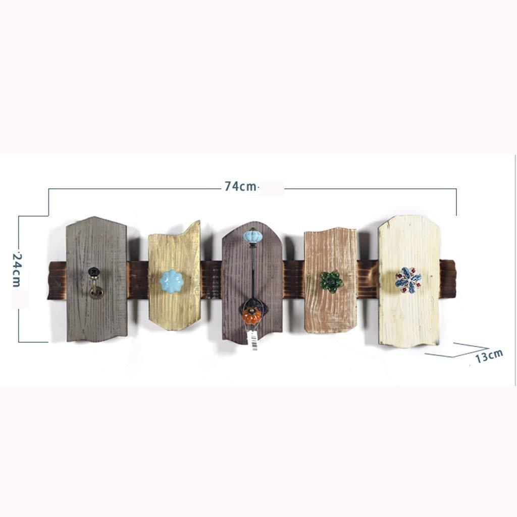 Willsego Willsego Willsego Clavijas de Ropa Gancho Decorativo Retro de Madera Creative Caf & Eacute; Perchero Llavero Perchero de Pared (Color : -, tamaño : -) 1ab576