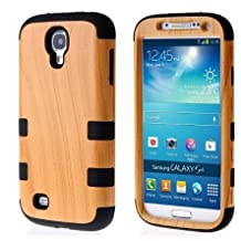 Case for Samsung S4 case,S4 case,Ezydigital Carryberry Luxury 3 in 1 Wood Grain Design Hybrid case for Samsung Galaxy S4 I9500