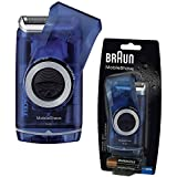 Braun M60 Washable Portable Travel Smart Foil Mens Battery Shaver - Blue