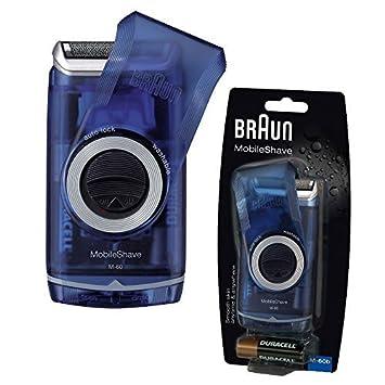 Braun M60 lavable portable travel Smart Foil para hombre afeitadora - azul   Amazon.es  Salud y cuidado personal c5729378b15c