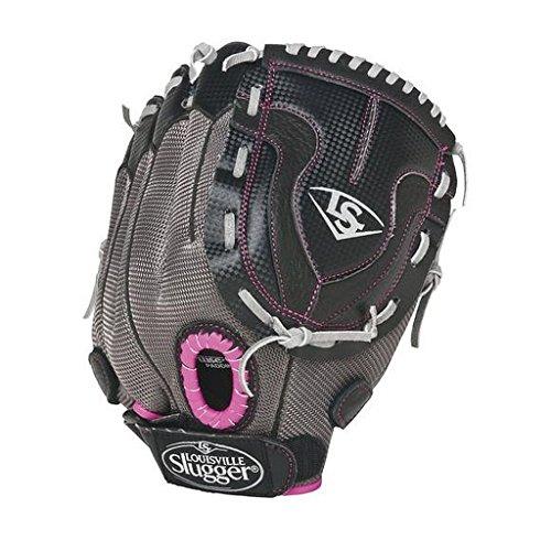 Louisville Slugger Youth Diva Softball Glove (12, Worn on left - Glove Softball Slugger Leather Louisville