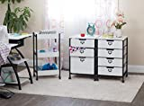 """Sew Ready Charcoal/White 27"""" H 4-Drawer Mobile"""