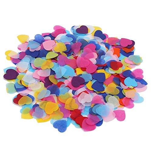 DECORA 1 Inch Multicolor Hearts Paper Confetti for Party Wedding Decorations
