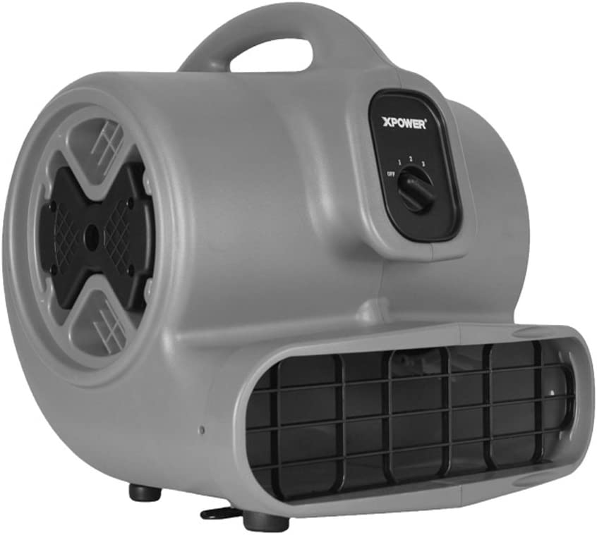 XPOWER P-630 1/2 HP 2800 CFM 3 Speed Professional Air Mover, 5.0-Amp
