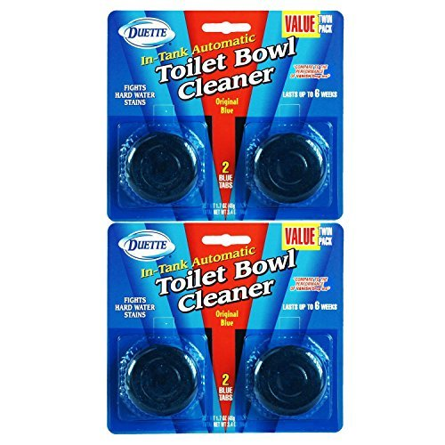 Drop In Single Tank (4 Pack Duette Automatic In-Tank Toliet Bowl Cleaner Tabs - Each Tablet Lasts Up To 6)