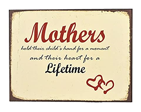 Concepts Tin Sign Wall Plaque With Mothers Quote 12x16 (Days Of Glory Daniel)