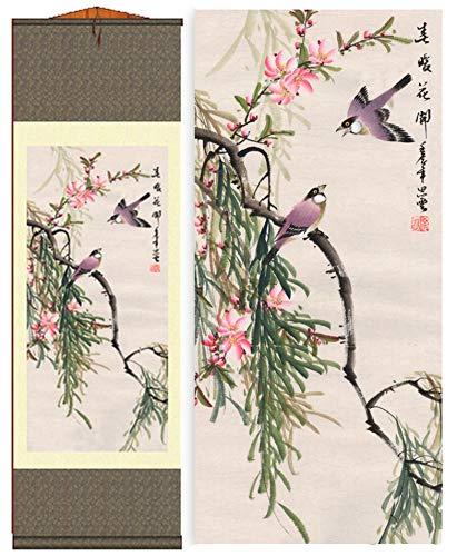 Grace Art Asian Wall Scroll, -