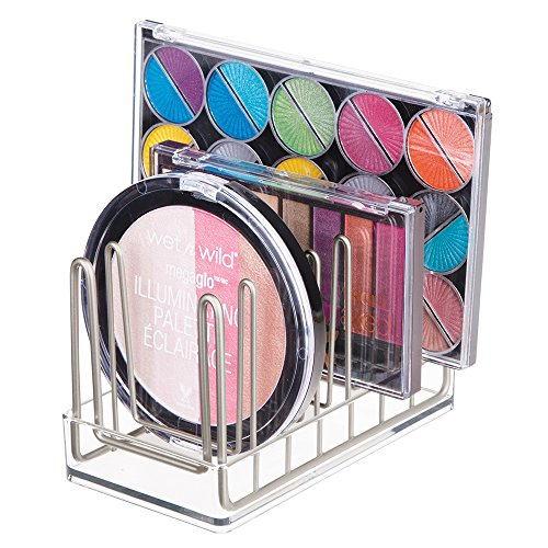 mDesign Cosmetic Palette Organizer for Vanity Cabinet to Hol
