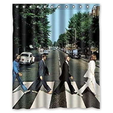 The Beatles Abbey Road Rolling Stone shower curtain 60x72 inch