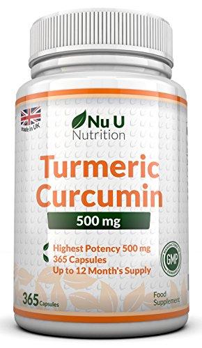 Curcuma 500mg, 365 Curcumin Kapseln (Versorgung für 12 Monate)