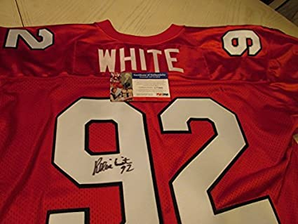 new product 3bb6f c709e REGGIE WHITE Signed Memphis Showboats Jersey -PSA ...