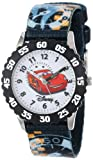 "Disney Kids' W000371 ""Time Teacher"" Cars Stainless Steel Watch With Printed Nylon Band"