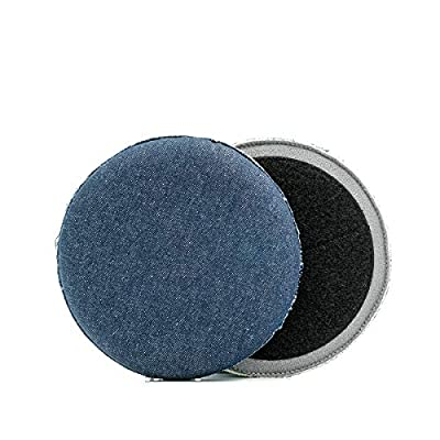 Osren Premium Denim Pad 6.3inch, Orange Peel Removal Pad, Hand Stitched for Extra Durability and Quality: Automotive