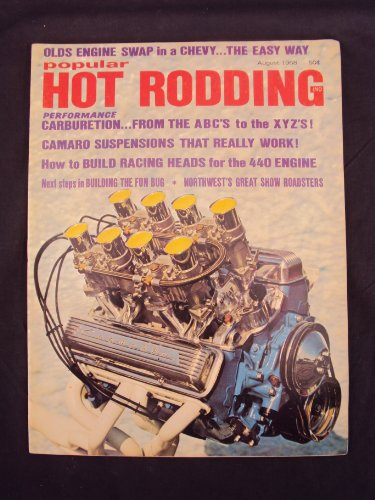 Racing Magazine Car Indy (1968 68 August POPULAR HOT RODDING Magazine, Volume 7 Number # 8 (Features: River Racing With Cars? / Glitter And Go From The Northwest / Indy's Over - Was It A Dasappointment?))