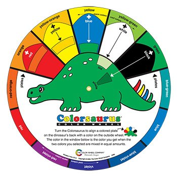 Color Wheel Childrens Colorsaurus