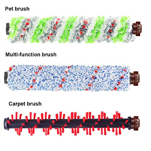 DEKIRU Compatible with Bissell Crosswave 1 Pack 2306 Multi-Surface Pet Brush Roll + 1 Pack 1934 Area Rug Brush Roll + 2 Pack 1866 Vacuum Filter Replacement Kit + 1 Pack Multi-Surface 1868 Brush Roll