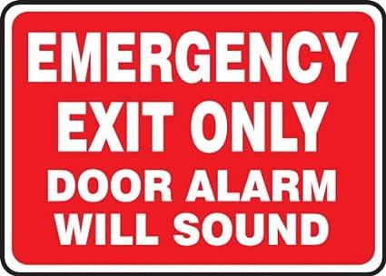 Amazon.com: Accuforme - Señal de seguridad con alarma de ...