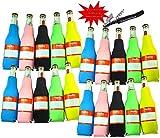 Colorful 335 mL Bottle Cooler Beer Coolie - Multi Color - Black, Blue, Green, Pink, Yellow (20, Multi-Color)