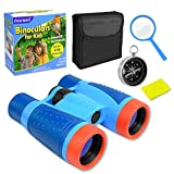 Fairwin Boys Girls Toys, Kids Learning Toys for 3 4 5 6 7 8 9 10 Years Old Shock-Proof Kids Binoculars with Compass and Magnifier Kit Boys Girls for Hiking Traveling Camping Observing