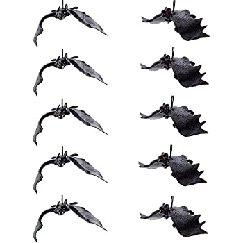 Amazon.com: Jovitec 24 Pieces Hanging Bats Halloween Bat ...