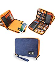 Electronics Accessories Organizer Bag,Portable Tech Gear Phone Accessories Storage Carrying Travel Case Bag, Headphone Earphone Cable Organizer Bag