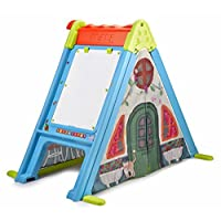 Feber 800011400 Play and Fold Activity House 3 in 1 - Playset - Easy to Store - Indoor and Outdoor, Multicolor