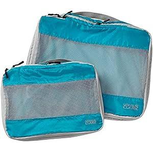 Lewis N. Clark Electrolight Packing Cube Set, 2-Pack, Bright Blue (Blue) - 1125