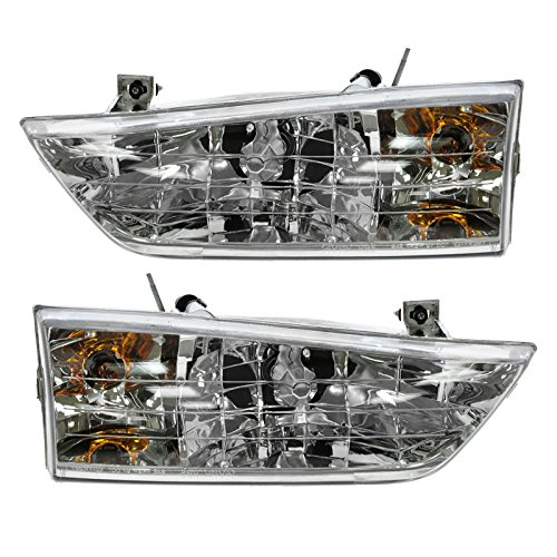 Headlights Headlamps Left & Right Pair Set for 1998 Ford Windstar ()