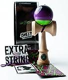 Sweets Kendamas Prime Pro Model Kendama - Sticky Paint, Hardwood Maple, Extra String Accessory Bundle (Matt Sweets Jorgenson)